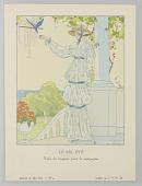 view Gazette du Bon Ton (Journal of Good Taste), Vol. 1, No. 9, Le Bel Été (The Beautiful Summer), Plate 3 digital asset number 1