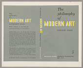 "view Bookjacket for ""The Philosophy of Modern Art"" by Herbert Read digital asset number 1"