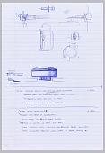 view Preparatory Drawing for Nest Thermostat: Proposed Design for Integration of Back Plate into Head Unit digital asset number 1