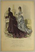view Plate No. 153 in Fashion Review in the Family Gazette [Revue de la Mode, Gazette de la Famille] digital asset number 1