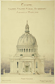 view Front Elevation of Chapel, United States Naval Academy, Annapolis, Maryland digital asset number 1