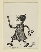 """view Vignette: A Policeman, Illustration for an unidentified """"Brownie"""" book digital asset number 1"""