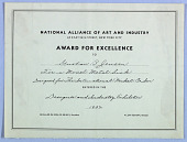 view National Alliance of Art and Industry Award digital asset number 1