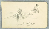view Man Paddling a Canoe on Millinoket [sic] River digital asset number 1