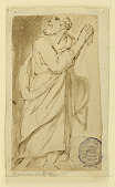 view Page of a drawing book; Elderly man in classical attire digital asset number 1