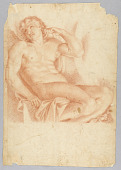 view Slave from Hero and Leander in the Galleria Farnese, after Annibale Carraci digital asset number 1
