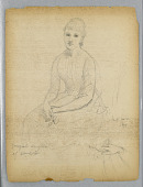 view Sketch for Portrait of the Youngest Daughter of William Astor digital asset number 1