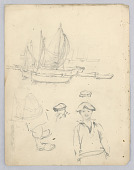 view Fishing Boats and Sailors digital asset number 1