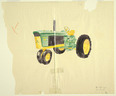 view Sketch of tractor, for John Deere digital asset number 1