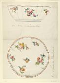 view Design for a Painted Porcelain Scalloped Salad Bowl digital asset number 1
