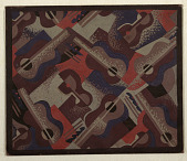 view Design for Carpet: Guitars and Cocktail Glasses for Radio City Music Hall, 1260 Sixth Avenue, New York, NY digital asset number 1