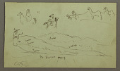 view Studies of figures on Donkeys and Donkeys, figure on Hill Range digital asset number 1