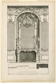 "view Plate 2, ""Decoration de cheminée pour un grand Apartement"" digital asset number 1"
