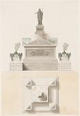 view Design for a Princely Sepulcher Monument digital asset number 1