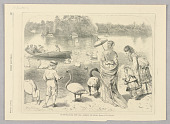 view In Central Park, New York—Feeding the Swans, Illustration for Every Saturday (October 7, 1871, p. 357) digital asset number 1