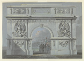 view Design for a Triumphal Arch in Honor of the Polish General Skrzynecki digital asset number 1