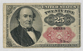 view United States, Twenty Five Cents, Fractional Currency digital asset number 1