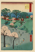 view Nippori, Temple Gardens (Nippori, jiin no rinsen) From the Series One Hundred Famous views of Edo digital asset number 1