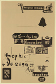 view Cal Arts Program in Graphic Design Announcement: ...Take a Fiver/ Graphic Designer and Teacher Nick Bell, November 29, 1994 digital asset number 1
