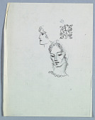view Two Female Heads: Turning Left and Right Profile; an Ornament digital asset number 1