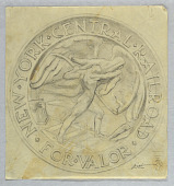 view Final Sketch for Obverse of New York Central Railroad Employees Medal digital asset number 1