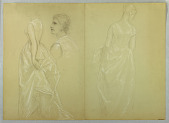 """view Study of Mrs. Winthrop for """"Lady Washington's Reception Day"""" digital asset number 1"""