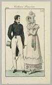 view Costumes Parisiens from Le Journal des Dames et des Modes, 1815, plate 44 digital asset number 1