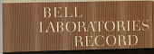 view Album: Bell Laboratories Record digital asset number 1