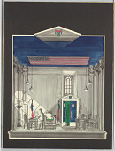 """view Stage Design: New England State Senate Hearing Room, for """"The Child Buyer"""" digital asset number 1"""