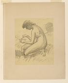 view Crouching Female Nude digital asset number 1