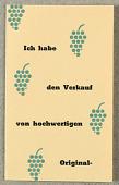 view Ich Habe den Verkauf von hochwertigen Original - Dessertweinen J. Deutsch digital asset number 1