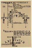 view Cal Arts Program in Graphic Design Announcement: ...Presents Rebeca Mendez, February 25, 1993 digital asset number 1