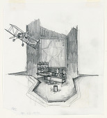 view Stage Design: Act III, Scene 1, Cutting Room, for Merton of the Movies digital asset number 1