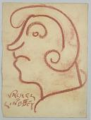 view Caricature of a Man, Vachel Lindsay digital asset number 1