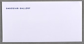 view Envelope for Gagosian Gallery, London Address digital asset number 1