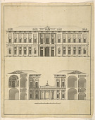 view Design for the Facade and Cross-Section of a Palace digital asset number 1