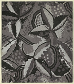 view Carpet Design: Stylized Flowers, Gray digital asset number 1