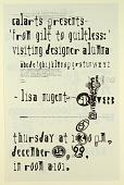 view Cal Arts Program in Graphic Design Announcement: ...Reverb - Lisa Nugent, December 16, 1999 digital asset number 1