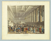 """view The Long Room, Custom House, from """"Ackermann's Repository"""" digital asset number 1"""