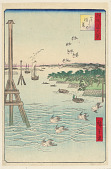 view View of Shiba Coast (Shibaura no fukei) From the Series One Hundred Famous views of Edo digital asset number 1