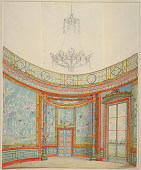 view Design for the Decoration of the Saloon, Royal Pavillion, Brighton digital asset number 1