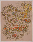 view Textile Design: Anemones, Apple Blossoms, and Narcissi digital asset number 1