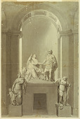 """view A Sepulchral monument of Henry Cardinal York (1725-1807) and Charles Edward Stuart, the """"Young Pretender"""" (1720-1788) digital asset number 1"""
