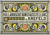 view Holländische Kunstausstellung (Dutch Art Exhibition in Krefeld) digital asset number 1