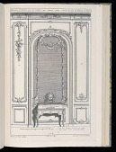 view Wall with Mirror and Secretary Desk, Desseins de Lambris (Wainscoting Designs) digital asset number 1