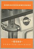 """view Gebrauchsanweisung """"Gebe"""" / Schalter-Gasherd digital asset number 1"""