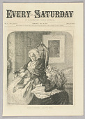 view Reading to Grandmother, Illustration for Every Saturday (II, May 27, 1871, cover) digital asset number 1