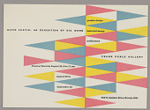 """view Exhibition Invitation for """" Alvin Lustig: An exhibition of his work"""" at the Frank Perls Gallery, Beverly Hills, CA digital asset number 1"""