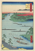 view Nakagawaguchi (Mouth of Nakagawa River) from the Series One Hundred Views of Edo digital asset number 1