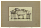 view Design for a Storefront with Art Deco-style Marquee digital asset number 1